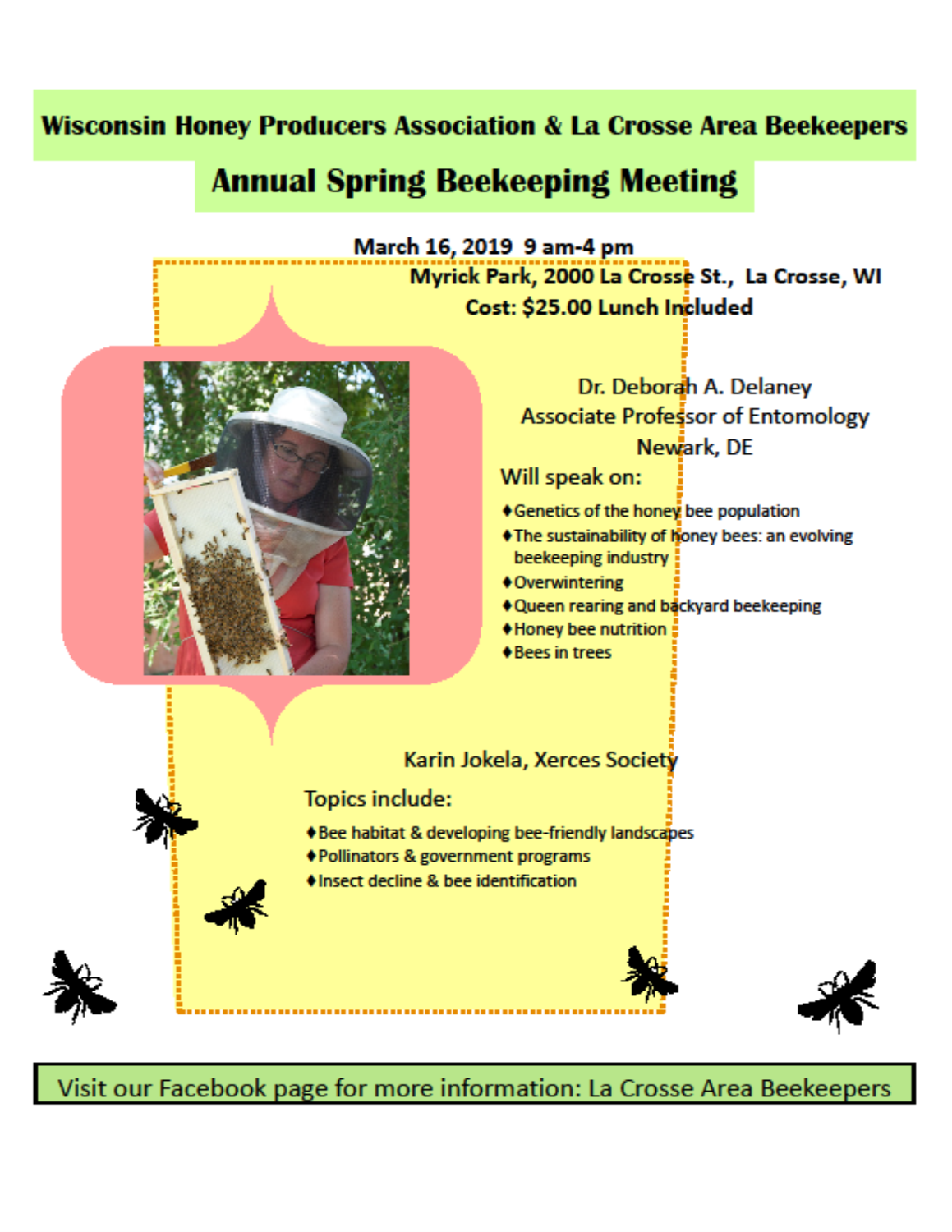 Beekeeping Meeting Flyer.
